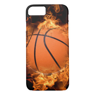 Basketball on fire iPhone 7 case