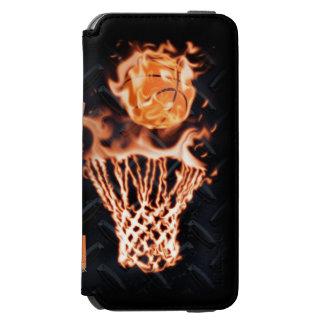 Basketball on fire swish it incipio watson™ iPhone 6 wallet case