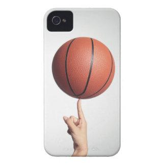 Basketball on index finger,hands close-up iPhone 4 Case-Mate case