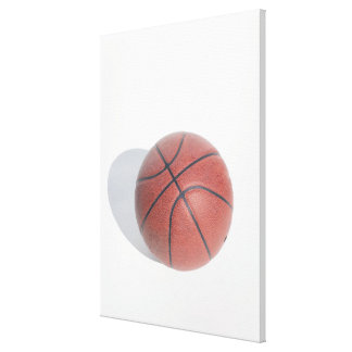 Basketball on white background canvas print