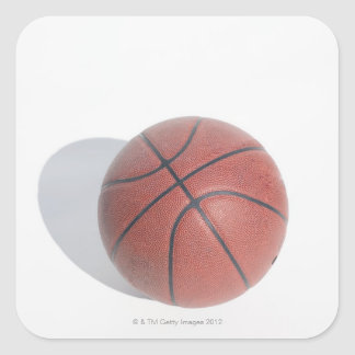 Basketball on white background square sticker
