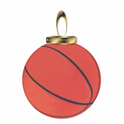 Basketball Ornament Acrylic Cut Out