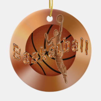 Basketball Ornaments. Vintage Basketball & Player Christmas Ornament