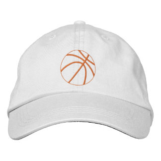 Basketball Outline Embroidered Hat