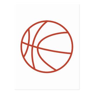 Basketball Outline Postcard