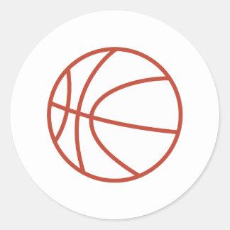 Basketball Outline Round Sticker