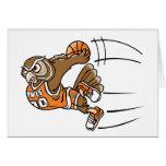 Basketball Owl Greeting Cards