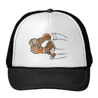 Basketball Owl Trucker Hats