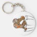 Basketball Owl Keychain