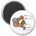 Basketball Owl Refrigerator Magnet