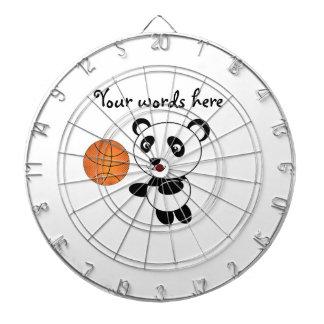 Basketball panda dartboard