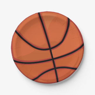Basketball Paper Plate