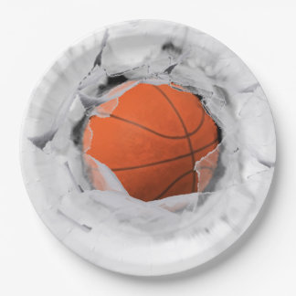 Basketball Party 9 Inch Paper Plate