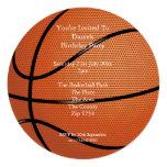 Basketball Party 13 Cm X 13 Cm Square Invitation Card