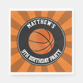 Basketball Party Paper Luncheon Napkins Disposable Serviette