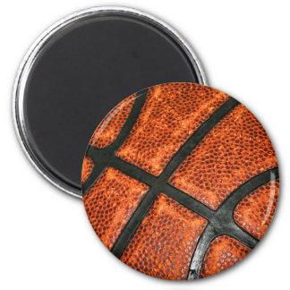 Basketball Pattern 6 Cm Round Magnet