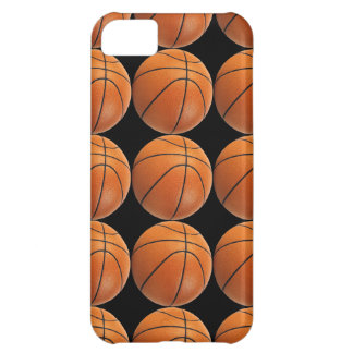 Basketball Pattern on Black iPhone 5C Case