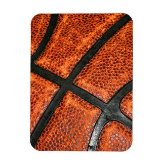 Basketball Pattern Rectangular Photo Magnet