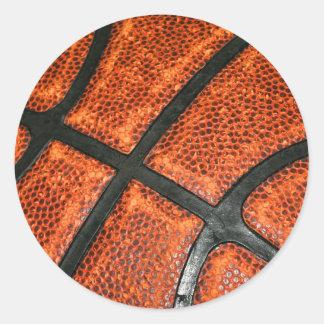 Basketball Pattern Round Sticker