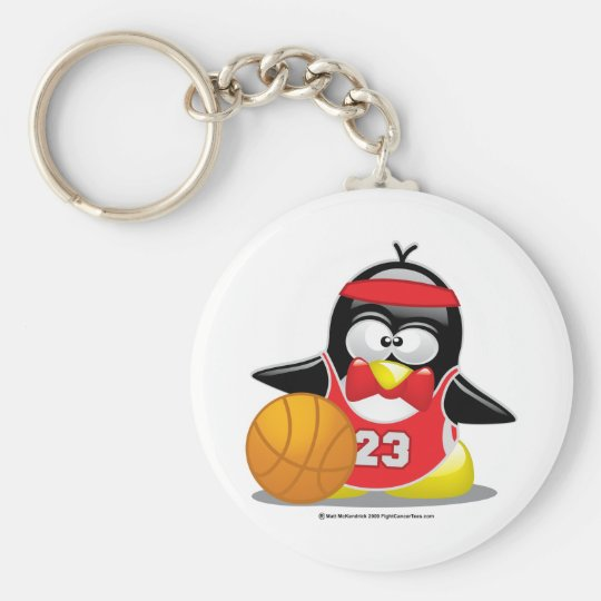Basketball Penguin Key Ring