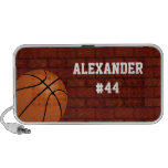 Basketball Personalised mp3 Speaker Accessory