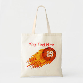 Basketball Personalized Canvas Tote Bag