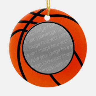 basketball photo ornament