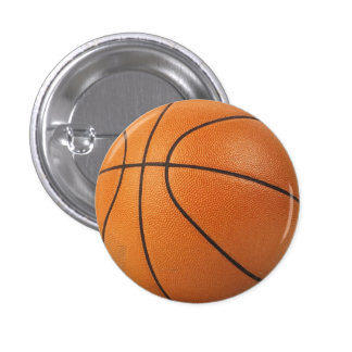 basketball pin / button - I heart hoops!
