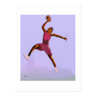 Basketball Play Art Postcard
