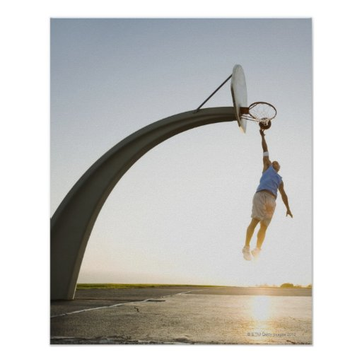Basketball player 3 poster