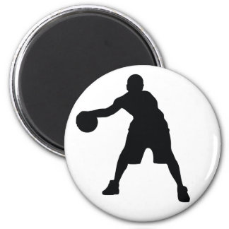 Basketball Player 6 Cm Round Magnet