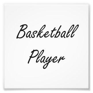 Basketball Player Artistic Job Design Photo