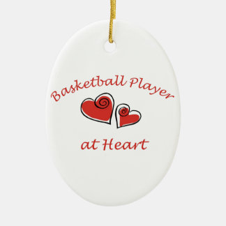 Basketball Player at Heart Christmas Tree Ornament