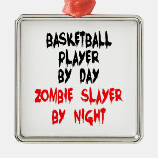 Basketball Player by Day Zombie Slayer by Night Christmas Ornament