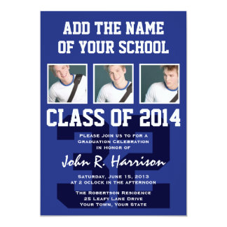 Basketball Player Class of 2014 Graduation Party 13 Cm X 18 Cm Invitation Card