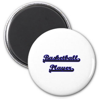 Basketball Player Classic Job Design 2 Inch Round Magnet