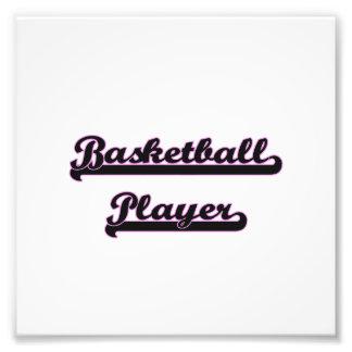 Basketball Player Classic Job Design Photo Art