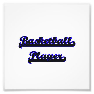 Basketball Player Classic Job Design Photo Print