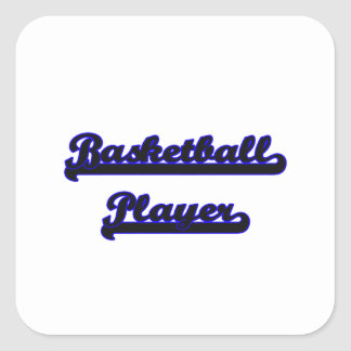 Basketball Player Classic Job Design Square Sticker