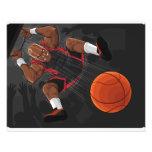 Basketball Player Doing Slam Dunk Custom Flyer