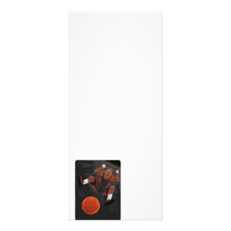 Basketball Player Doing Slam Dunk Rack Card Design