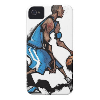 Basketball player dribbling ball iPhone 4 cases