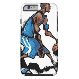 Basketball player dribbling ball tough iPhone 6 case