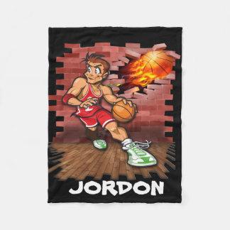 Basketball player fleece blanket