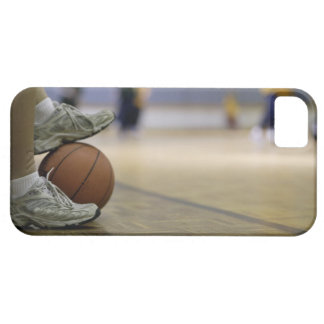 Basketball player holding ball with feet case for the iPhone 5