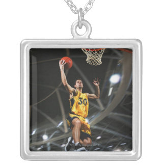 Basketball player  jumping in air jewelry