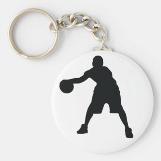 Basketball Player Basic Round Button Key Ring