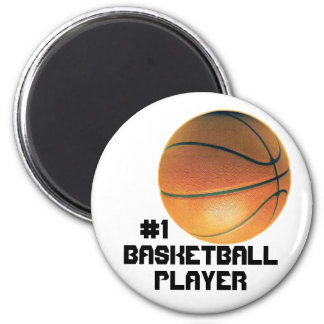 Basketball Player 6 Cm Round Magnet