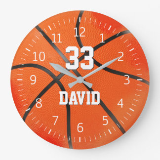 Basketball Player No | Sport Cool Gifts Large Clock