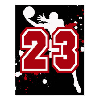 BASKETBALL PLAYER NUMBER 23 POSTCARD